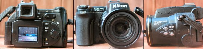 Nikon Coolpix E5700 - triple view